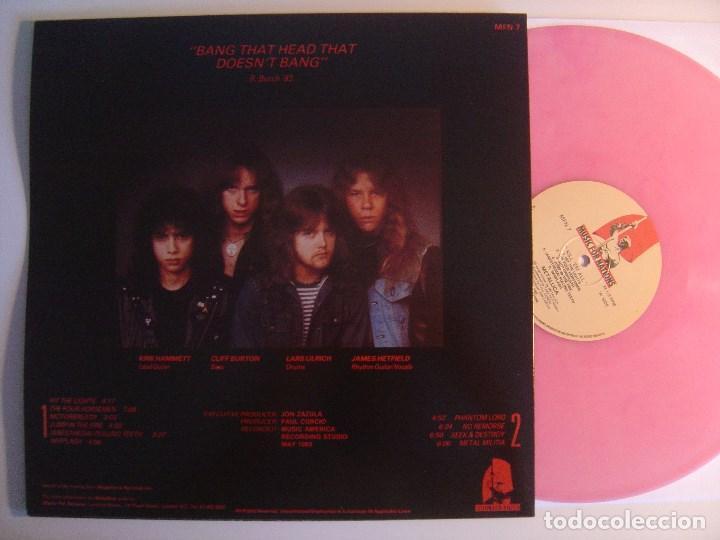 Discos de vinilo: METALLICA - kill em all - LP REEDICION VINILO ROSA - MUSIC FOR NATIONS - Foto 2 - 142796526