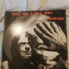 Discos de vinilo: ROSENDO PARA MAL O PARA BIEN LP DRO. Lote 142815470