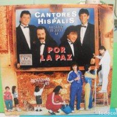 Discos de vinilo: CANTORES DE HISPALIS POR LA PAZ 2 LP 1991 HISPAVOX NUEVO¡¡ PEPETO. Lote 243548950