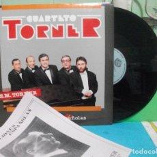 Discos de vinilo: CUARTETO TORNER 10 CANCIONES ESPAÑOLAS LP NUEVO¡¡ ASTURIAS PEPETO. Lote 142822062