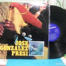 Discos de vinilo: JOSE GONZALEZ PRESI LP 1969 COLUMBIA SPAIN ESPAÑA ASTURIAS. Lote 142822894