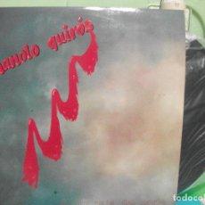 Discos de vinilo: LP MANOLO QUIRÓS EN UN PAIS DEL NORTE FOLK GAITA ASTURIAS COMO NUEVO¡¡ PEPETO. Lote 142823702
