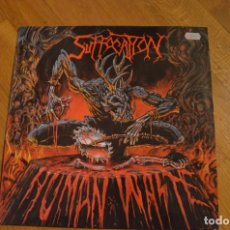 Discos de vinilo: SUFFOCATION - HUMAN WASPE - VINYL 12 ,45 RPM EP 1991 GERMANY. Lote 142824130