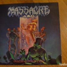Discos de vinilo: MASSACRE - INHUMAN CONDITION 1992 VINYL EP 12 45 RPM EARACHE -MOSH60T. Lote 142824894