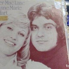Disques de vinyle: SINGLE (VINILO) DE PETER MAC LANE ET ANNE MARIE GODART AÑOS 70(EUROVISION). Lote 161280617