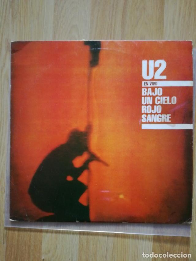 U2 VINILO ARGENTINA BAJO UN CIELO ROJO SANGRE MINI LP RARO NO PROMO CD (Música - Discos de Vinilo - EPs - Pop - Rock - New Wave Internacional de los 80)