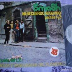 Discos de vinilo: SMASH MX 12'' NI RECUERDO NI OLVIDO ORIGINAL 1978 CHAPA PROMOCIONAL EX- / EX. Lote 142859490