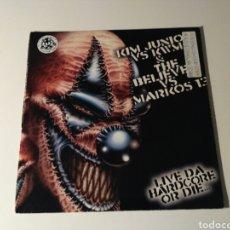 Discos de vinilo: KIM JUNIOR VS KWM & THE BELIEVER* VS MARKOS 13 / DJ DAVID MAX - LIVE DA HARDCORE OR DIE... / DANGER. Lote 142859636