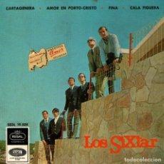 Discos de vinilo: LOS SIXTAR - SU PRIMER DISCO Y AUTOGRAFIADO - EP VINILO 7'' - CARTAGENERA + 3 - REGAL - AÑO 1966. Lote 142862554