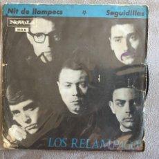Discos de vinilo: LOS RELAMPAGOS (SINGLE ZAFIRO 1965) NIT DE LLAMPECS / SEGUIDILLAS. Lote 142866760