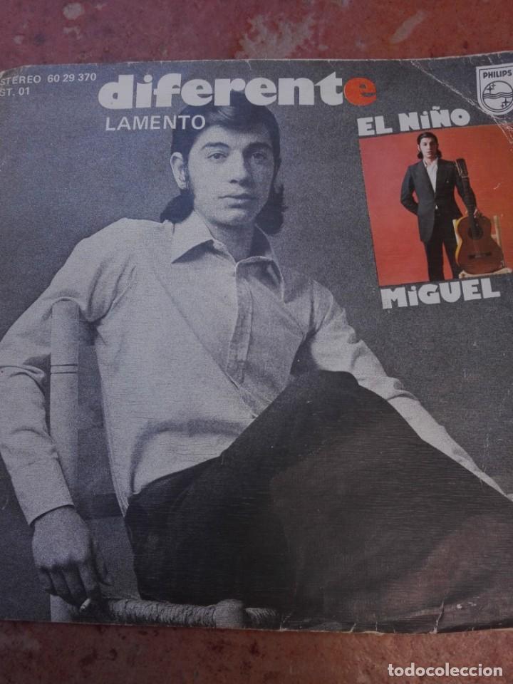 EL NIÑO MIGUEL-DIFERENTE (Música - Discos - Singles Vinilo - Otros estilos)