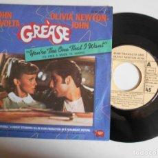 Discos de vinilo: JOHN TRAVOLTA-SINGLE GREASE. Lote 142891414