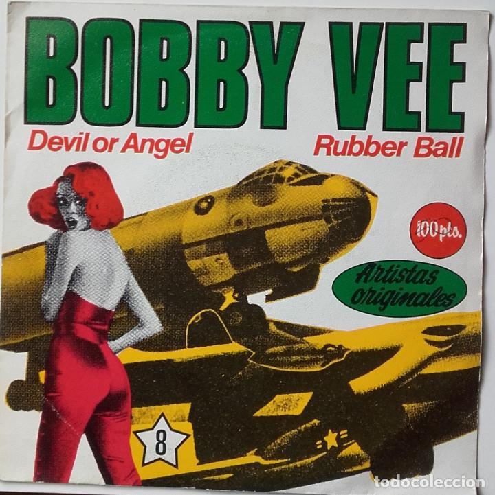 BOBBY VEE: DEVIL OR ANGEL (Música - Discos de Vinilo - Singles - Pop - Rock Extranjero de los 80)