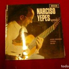 Discos de vinilo: NARCISO YEPES, GUITARRA -- JUEGOS PROHIBIDOS / FARRUCA / BALADA, DECCA, 1965.. Lote 142913550