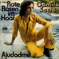 Discos de vinilo: CAMILO SESTO AJUDADME SINGLE EDITADO EN ALEMANIA CANTA EN ALEMAN LAS DOS CANCIONES. Lote 142941642