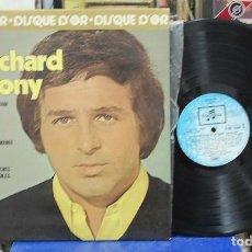 Discos de vinilo: RICHARD ANTHONY. DISQUE D'OR. COLUMBIA 1975, REF. 2C 066-16.049. LP CARPETA ABIERTA. Lote 142947454