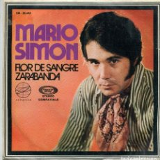 Discos de vinilo: MARIO SIMON / FLOR DE SANGRE / ZARABANDA (SINGLE 1971). Lote 142948762