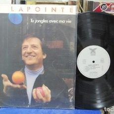 Discos de vinilo: JEAN LAPOINTE. TU JANGLES AVEC MA VIE. Lote 142953798