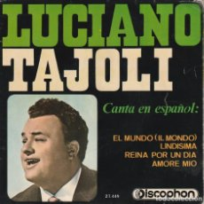 Discos de vinilo: LUCIANO TAJOLI - CANTA EN ESPAÑOL (EP DISCOPHON 1965 ESPAÑA). Lote 142954874