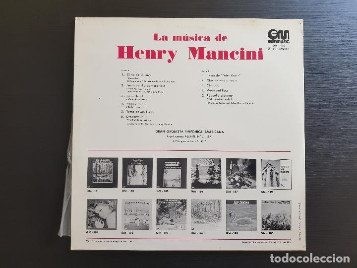 Discos de vinilo: HENRY MANCINI - LA MÚSICA DE - LP VINILO - GRAMUSIC - 1973 - Foto 2 - 142960002