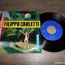 Discos de vinilo: FILIPPO CARLETTI - LA LUNA Y EL TORO +3 . Lote 142972282
