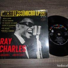 Discos de vinilo: RAY CHARLES - ADIOS AMOR +5. Lote 142972546