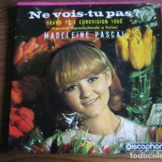 Discos de vinilo: MADELEINE PASCAL - NE VOIS-TU PAS ************* EUROVISION SUIZA 1966 EP ESPAÑOL. Lote 142973458