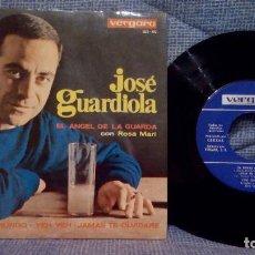 Discos de vinilo: JOSE GUARDIOLA - EL ANGEL DE LA GUARDA / EL MUNDO / YEH YEH / JAMAS TE OLVIDARE - AÑO 1965 EXCELENTE. Lote 142995210