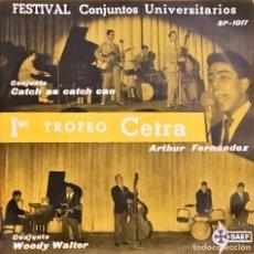 Discos de vinilo: EP. CONJUNTO WOODY WALTER (LOS PAJAROS LOCOS) FESTIVAL CONJUNTOS UNIVERSITARIOS. (VG/VG). Lote 143003358