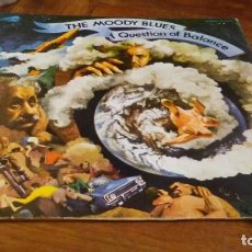 Discos de vinilo: THE MOODY BLUES. A QUESTION OF BALANCE. THRESHOLD. Lote 143013482