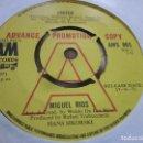 Discos de vinilo: MIGUEL RIOS - UNITED - EDICION PROMOCIONAL INGLESA DEL AÑO 1971 EN EL SELLO AM RECORDS.. Lote 143036154