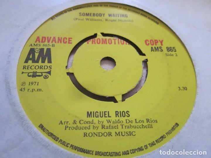 Discos de vinilo: MIGUEL RIOS - UNITED - EDICION PROMOCIONAL INGLESA DEL AÑO 1971 EN EL SELLO AM RECORDS. - Foto 2 - 143036154