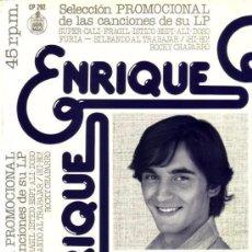 Discos de vinilo: ENRIQUE – MUY PRONTO HAY QUE TRIUNFAR - MAXI-SINGLE PROMO SPAIN 1977. Lote 143039170