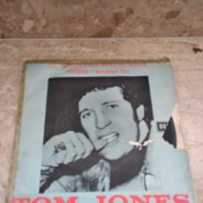 Discos de vinilo: TOM JONES. I'LL NEVER FALL IN LOVE AGAIN / THINGS I WANNA DO. Lote 143041444