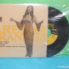 Discos de vinilo: ARETHA FRANKLIN SATISFACTION + 3 EP PORTUGAL !!ULTIMA OPORTUNIDAD!!!! . 1968 PDELUXE. Lote 143056614