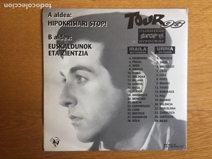 Discos de vinilo: NEGU GORRIAK: HIPOKRISIARI STOP! / EUSKALDUNOK ETA ZIENTZIA - Foto 2 - 143060113