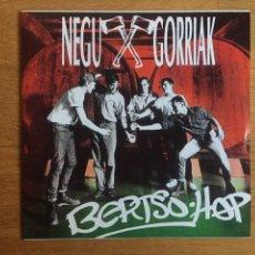 Discos de vinilo: NEGU GORRIAK: BERTSO HOP. Lote 143060958