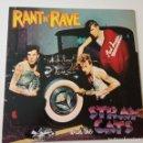 Discos de vinilo: STRAY CATS- RANT N´RAVE - USA LP 1983 + ENCARTE- VINILO COMO NUEVO.. Lote 143068318
