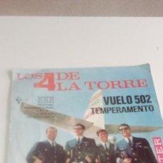 Discos de vinilo: BAL-7 DISCO CHICO 7 PULGADAS SOLO CARATULA SIN DISCO LOS 4 DE LA TORRE VUELO 502 TEMPERAMENTO. Lote 195340952
