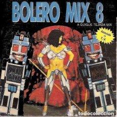 Discos de vinilo: BOLERO MIX 8, QUIQUE TEJADA MIX - SINGLE PROMO ESPAÑOL 1991 BLANCO Y NEGRO. Lote 143071886