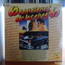 Discos de vinilo: *** 60 CANCIONES DE LOS AÑOS 60 - VERSIONES Y ARTISTAS ORIGINALES - TRIPLE LP (3) - AÑO 1987. Lote 143073186