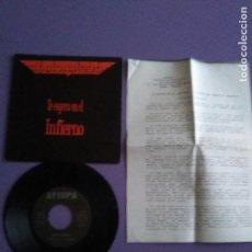 Discos de vinilo: BARON ROJO - TE ESPERO EN EL INFIERNO - SINGLE PROMOCIONAL AVISPA 1992 // CON HOJAS DE PRENSA.. Lote 143074106