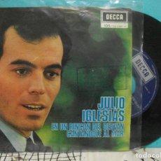 Discos de vinilo: JULIO IGLESIAS -- EN UN RINCÓN DEL DESVÁN, CANTANDOLE AL MAR -- EDICIÓN BELGA -- DECCA, 1971. Lote 143078870