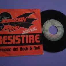 Discos de vinilo: BARON ROJO SINGLE RESISTIRE/HERMANO DEL ROCK & ROLL.SPAIN AÑO 1982.CHAPA DISCOS H 33075.. Lote 143079586
