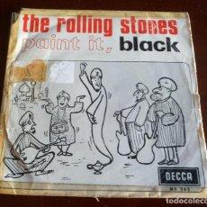 Discos de vinilo: THE ROLLING STONES - PAINT IT BLACK - SINGLE. Lote 143080446