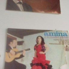 Discos de vinilo: BAL-7 DISCO CHICO 7 PULGADAS AMINA CAPRI SE ACABO. Lote 143081270
