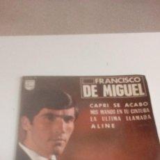 Discos de vinilo: BAL-7 DISCO CHICO 7 PULGADAS FRANCISCO DE MIGUEL / CAPRI SE ACABO / MIS MANOS EN TU CINTURA . Lote 143082682