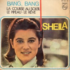 Discos de vinilo: SHEILA - BANG-BANG (PHILIPS, 437 233 BE 7'', EP, MONO 1966). Lote 143084658