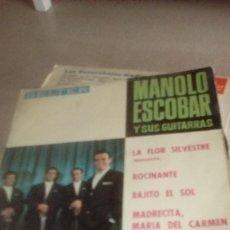 Discos de vinilo: BAL-7 DISCO CHICO 7 PULGADAS MANOLO ESCOBAR LA FLOR SILVESTRE . Lote 143084950