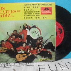Discos de vinilo: LOS BEATLES DE CADIZ / A MI CAI / TEREN TEN TEN + 2 (EP 1966) PEPETO. Lote 143086766